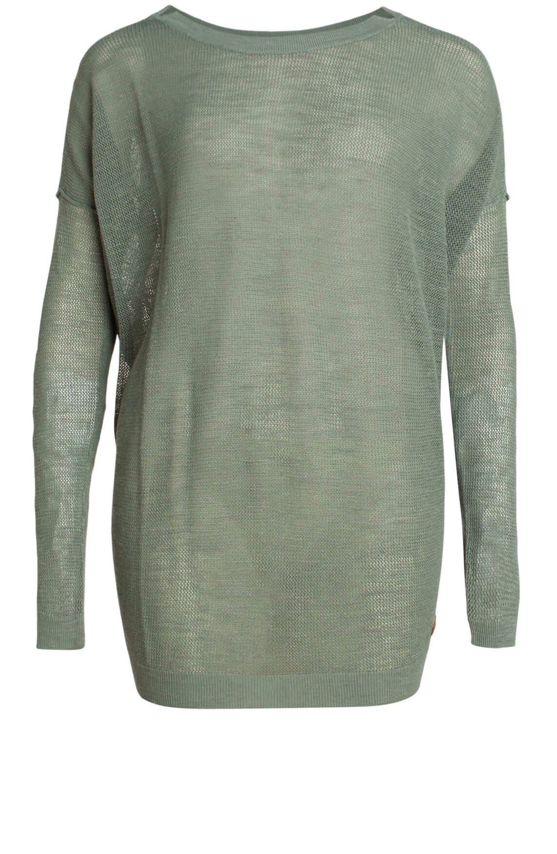 Moscow Dames Mesh pullover groen