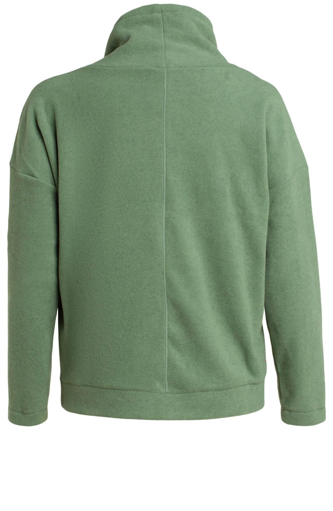 Anna Blue Dames Fleece sweater groen