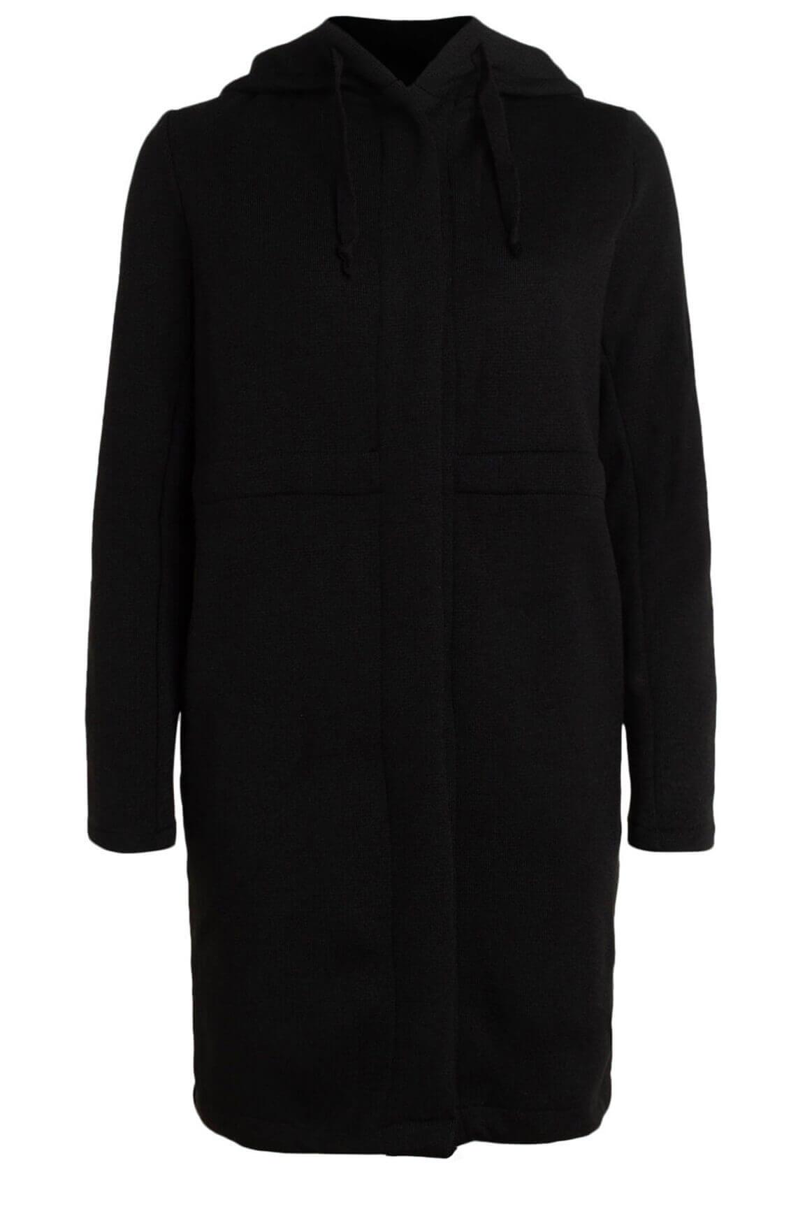 Anna Blue Dames Vest met capuchon zwart