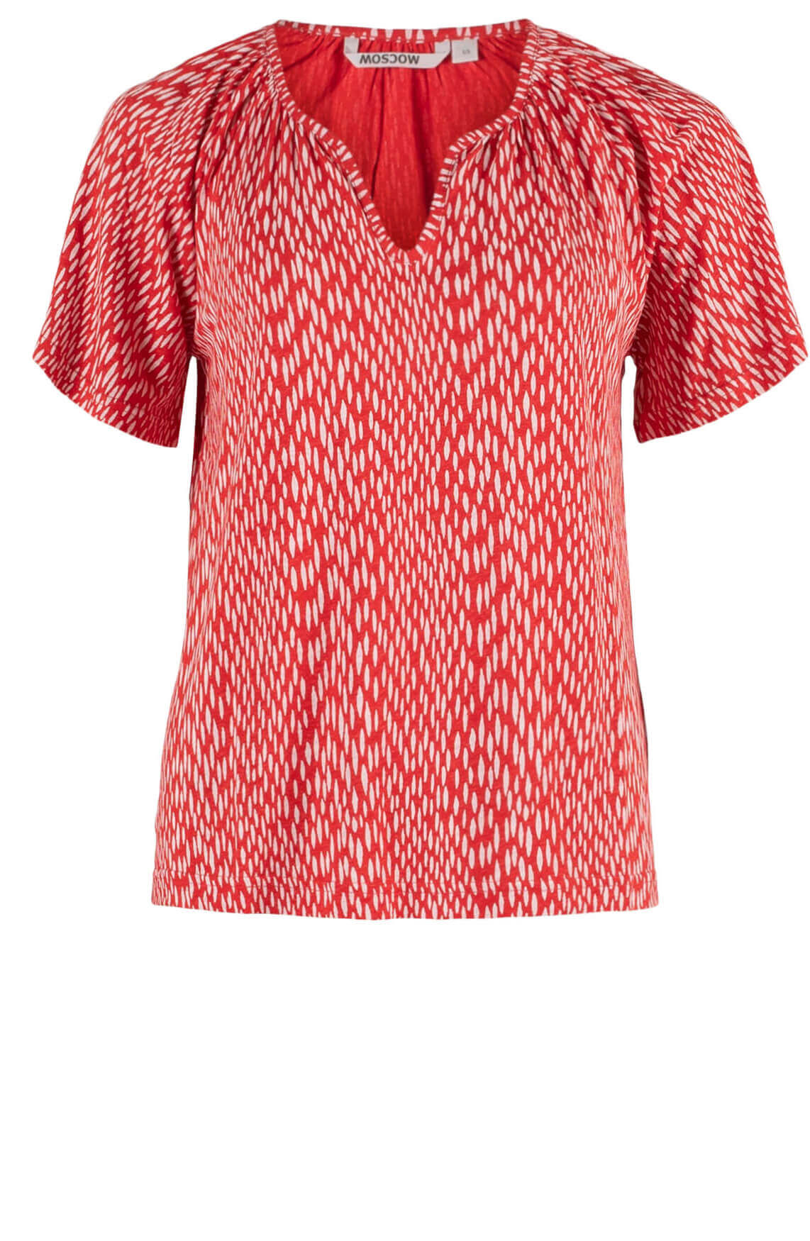Moscow Dames Shirt met print Rood