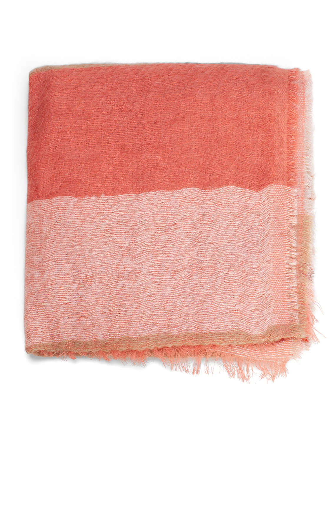 Moment by Moment Dames Gestreepte shawl roze