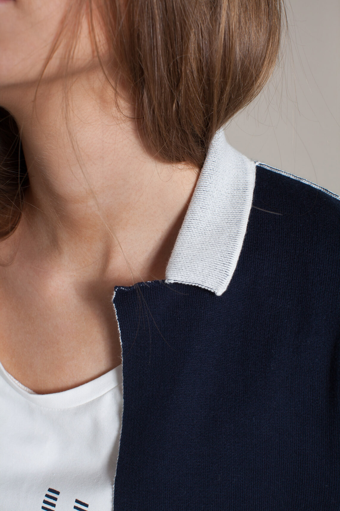 Anna Blue Dames Vest met koordsluiting Blauw