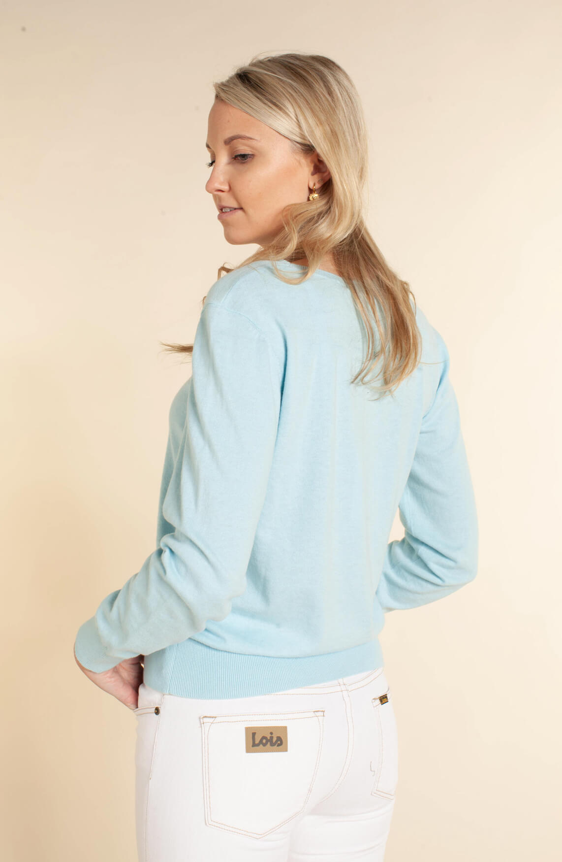 Closed Dames Fijngebreide sweater Blauw