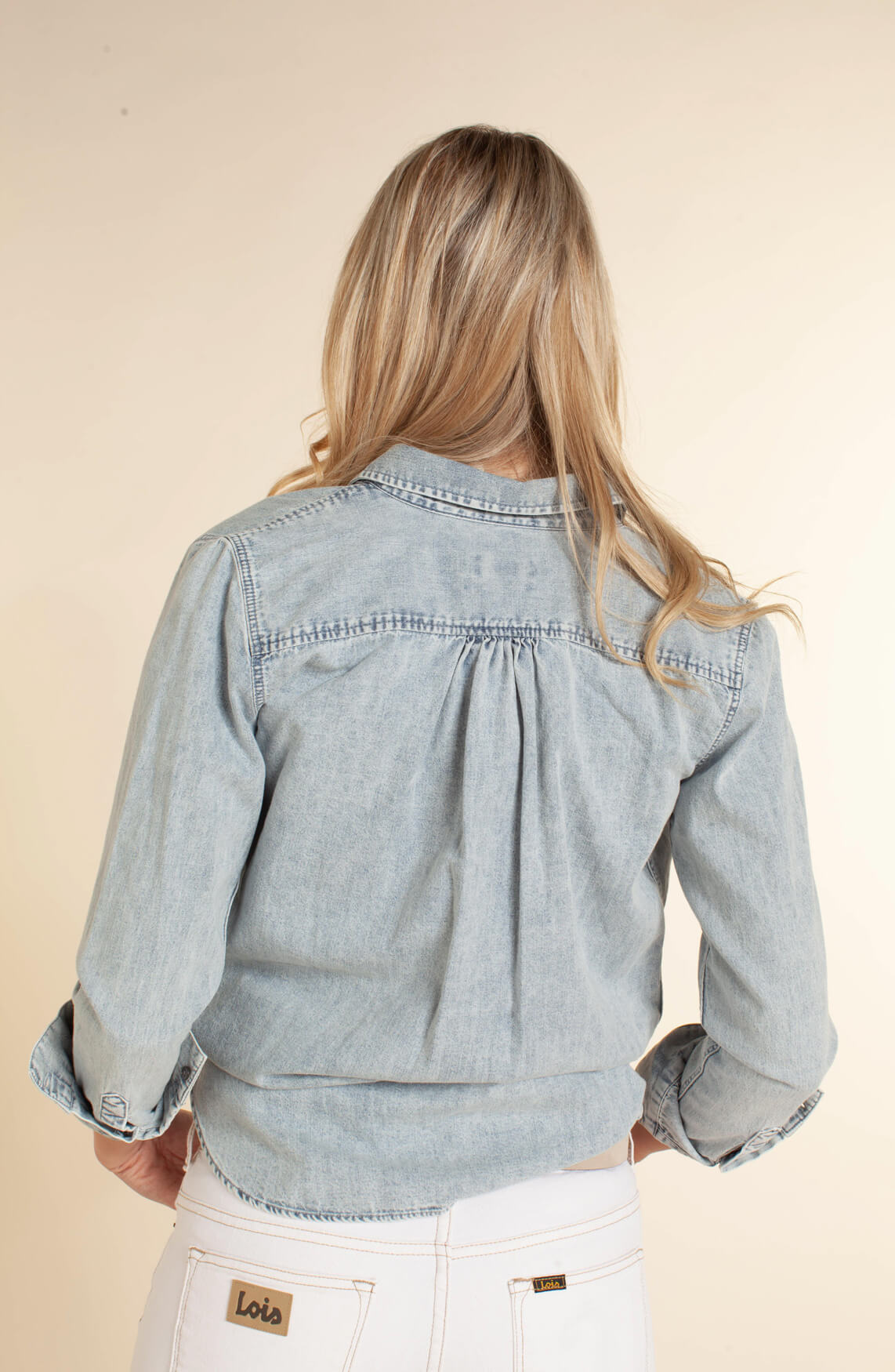Closed Dames Denim blouse Grijs