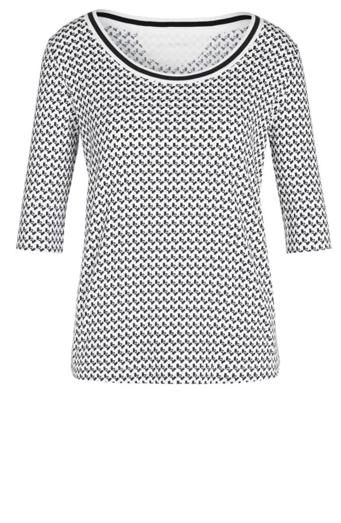 Marccain Sports Dames Grafisch shirt zwart