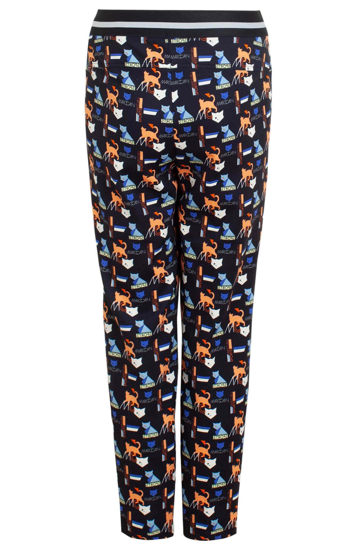 Marccain Sports Dames Kattenprint pantalon Blauw