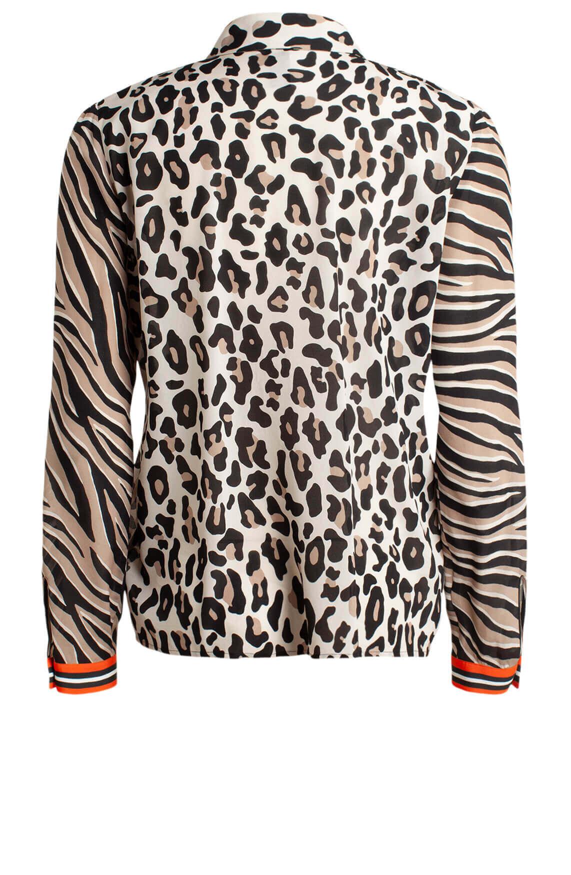 Marccain Dames Animal blouse Bruin