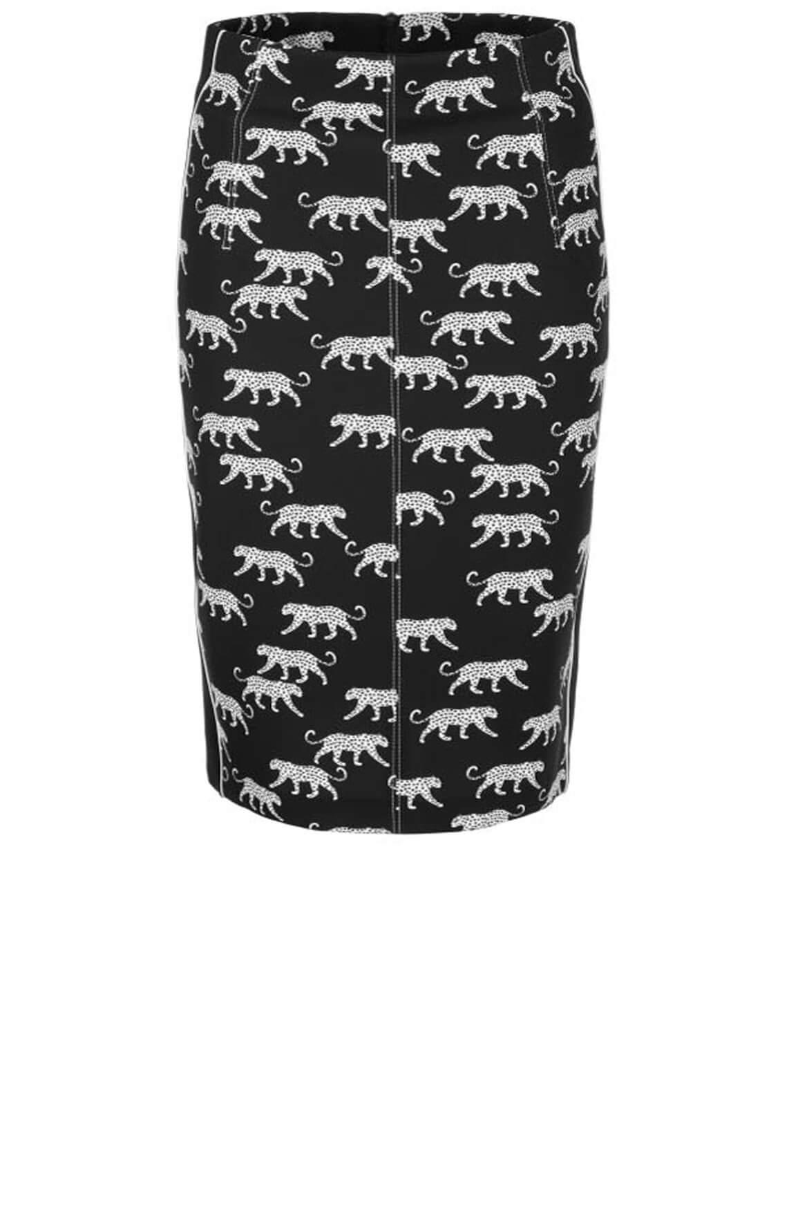 Marccain Dames Luipaard kokerrok zwart