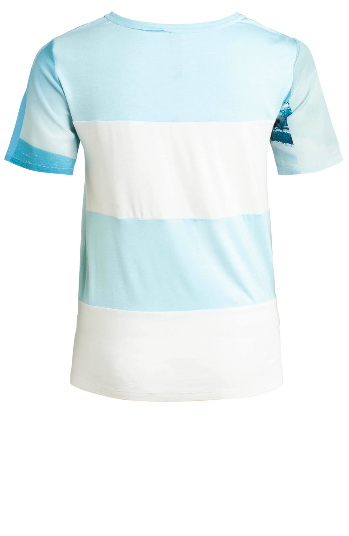 Marccain Dames Zijden blouseshirt Blauw