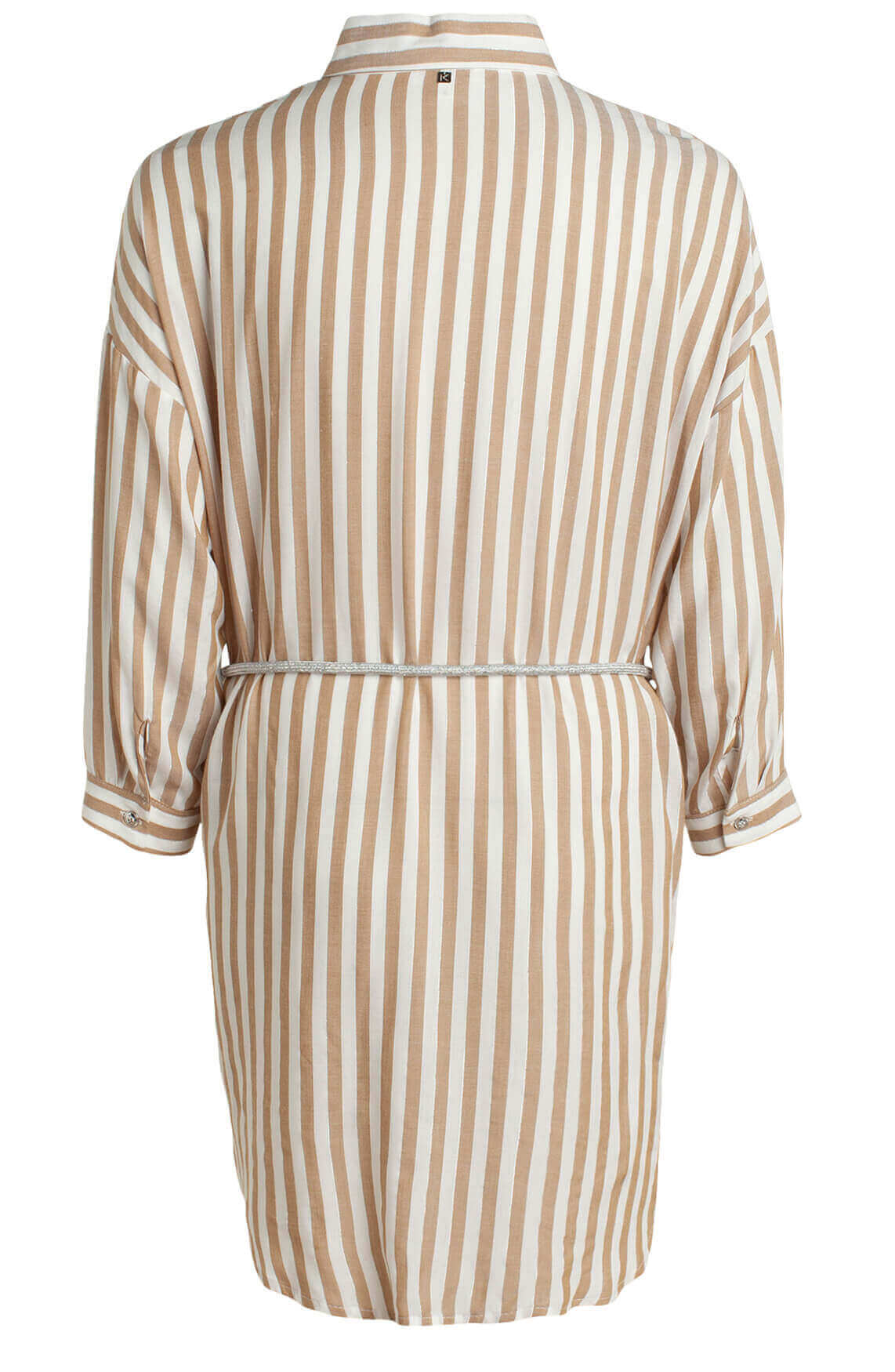 Kocca Dames Nelles lurex gestreepte blouse Bruin