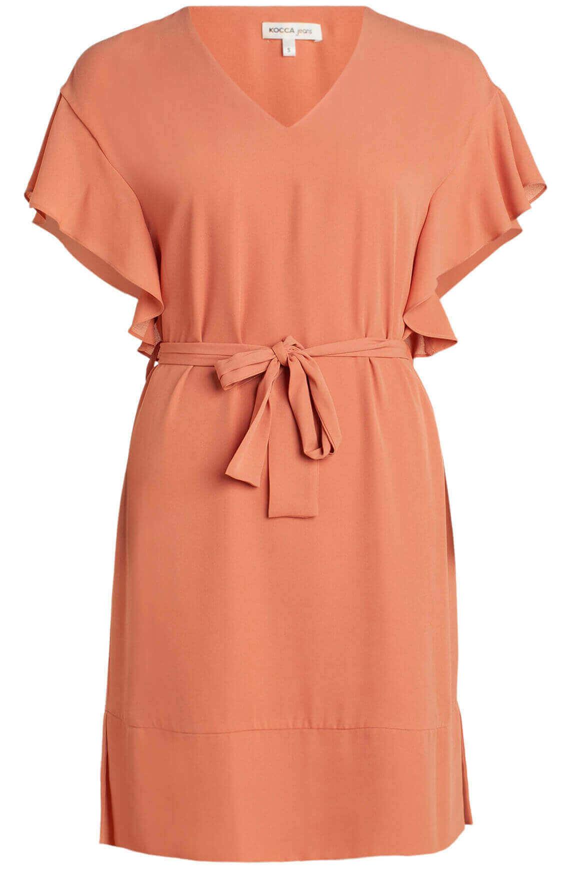 Kocca Dames Lifana jurk met ruches roze