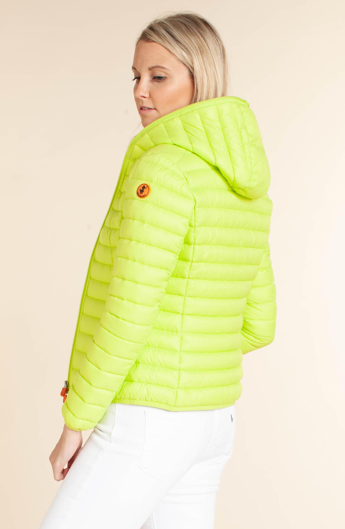 Save the Duck Dames Korte gewatteerde jas geel