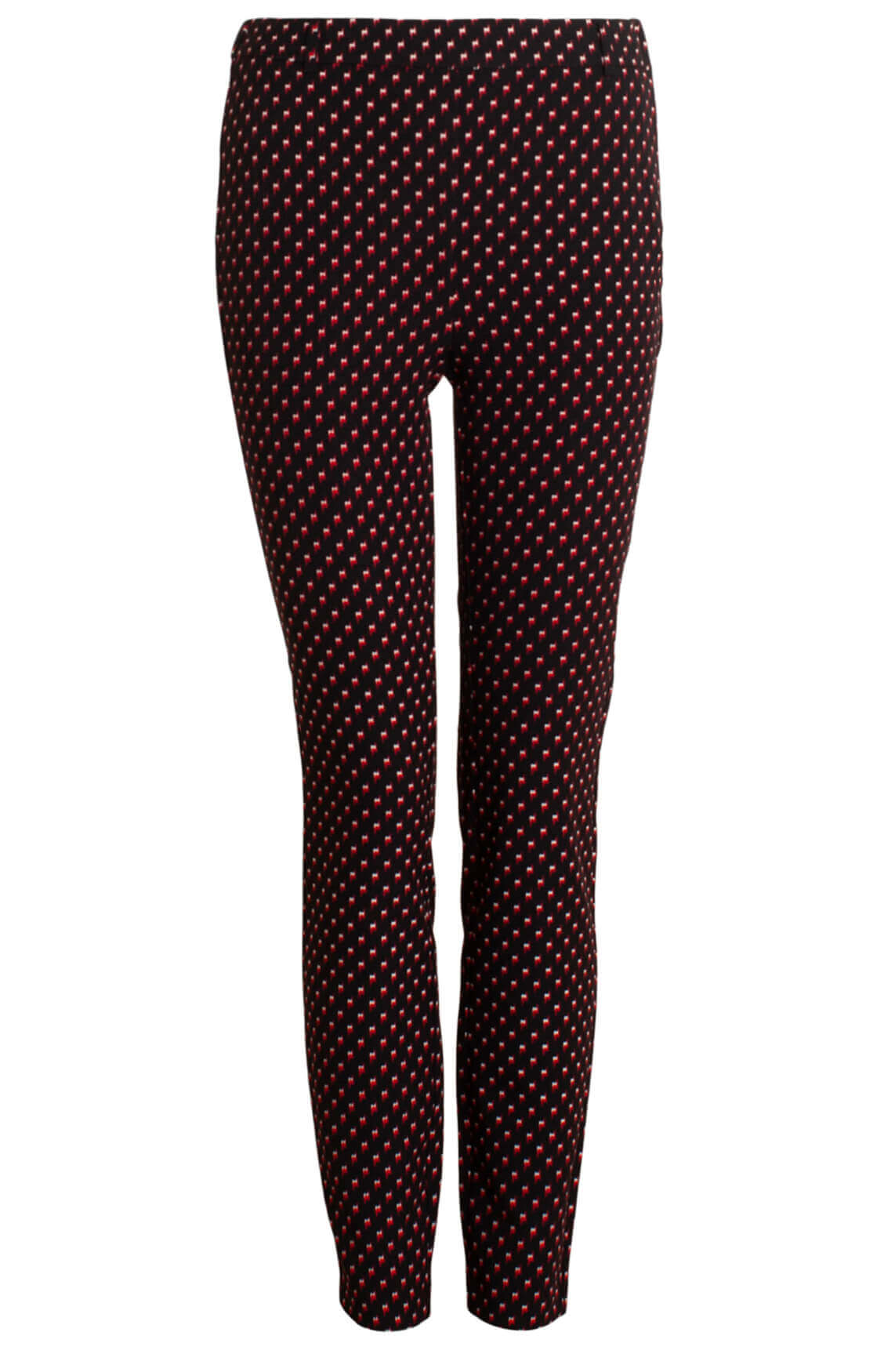 Alix The Label Dames Pantalon met bliksemprint zwart