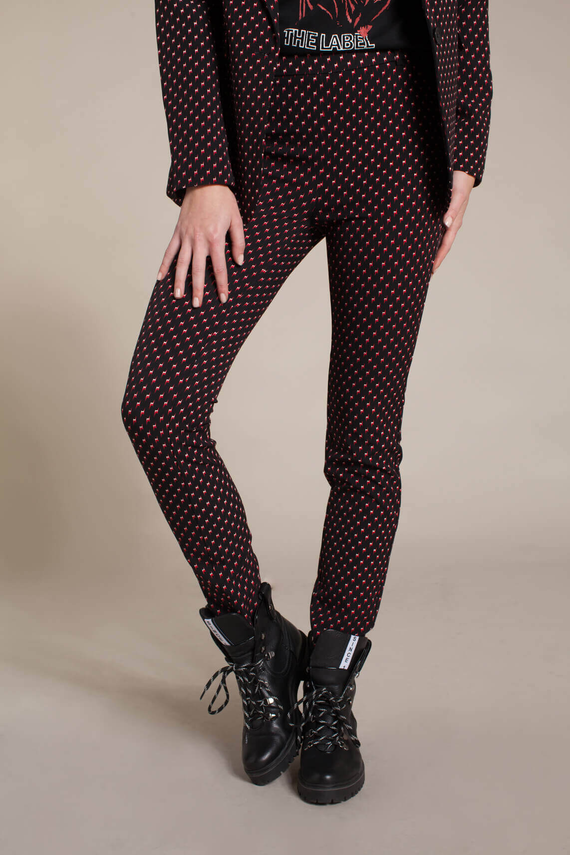 Alix The Label Dames Pantalon zwart