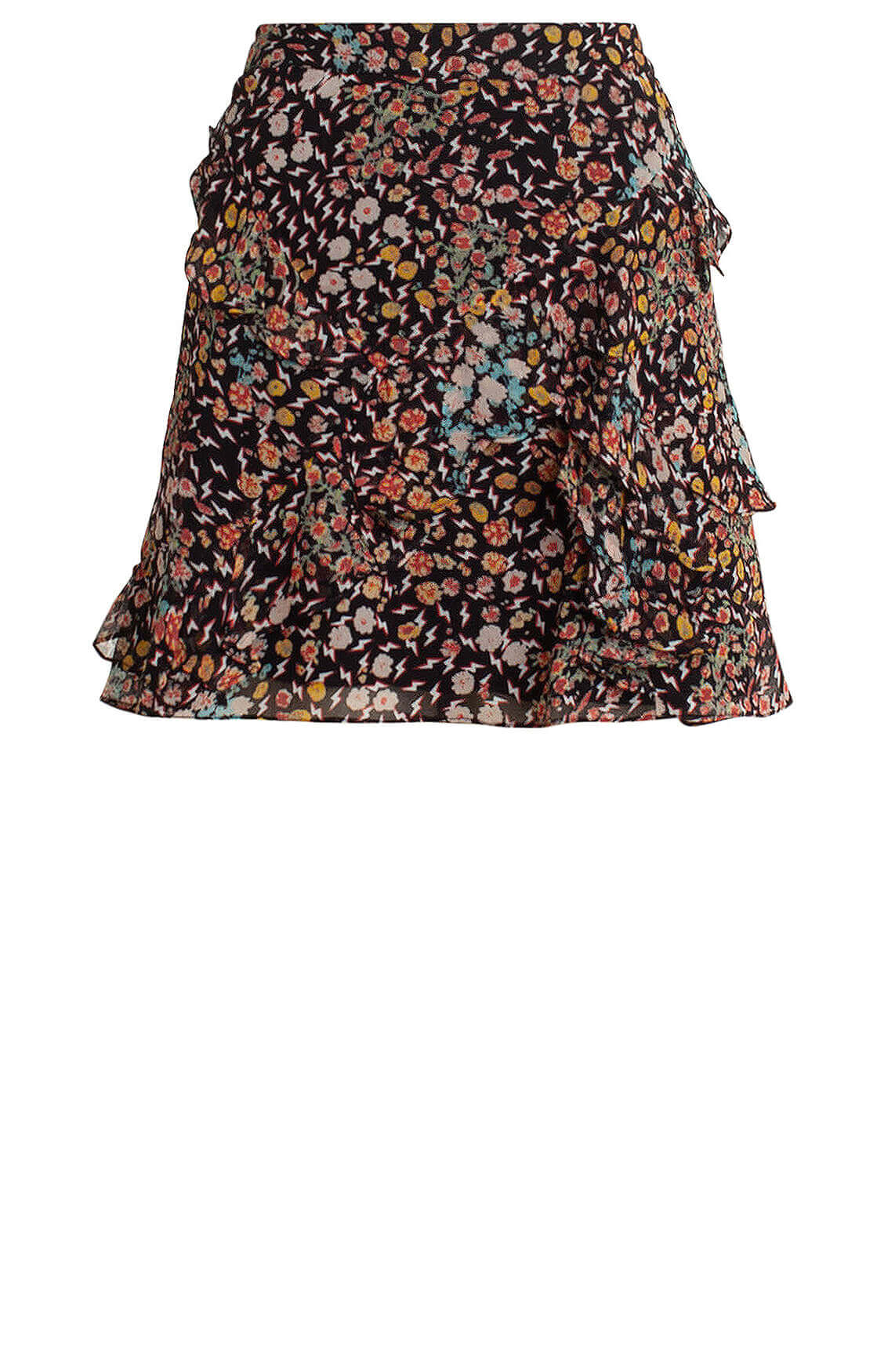 Alix The Label Dames Minirok met print zwart