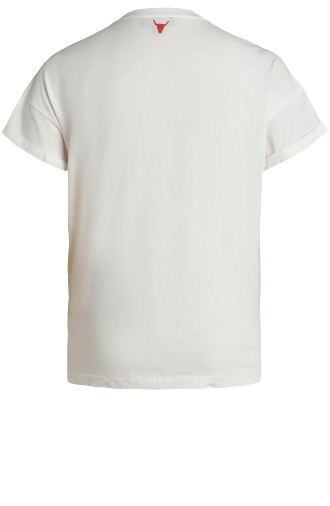 Alix The Label Dames Shirt met artwork wit