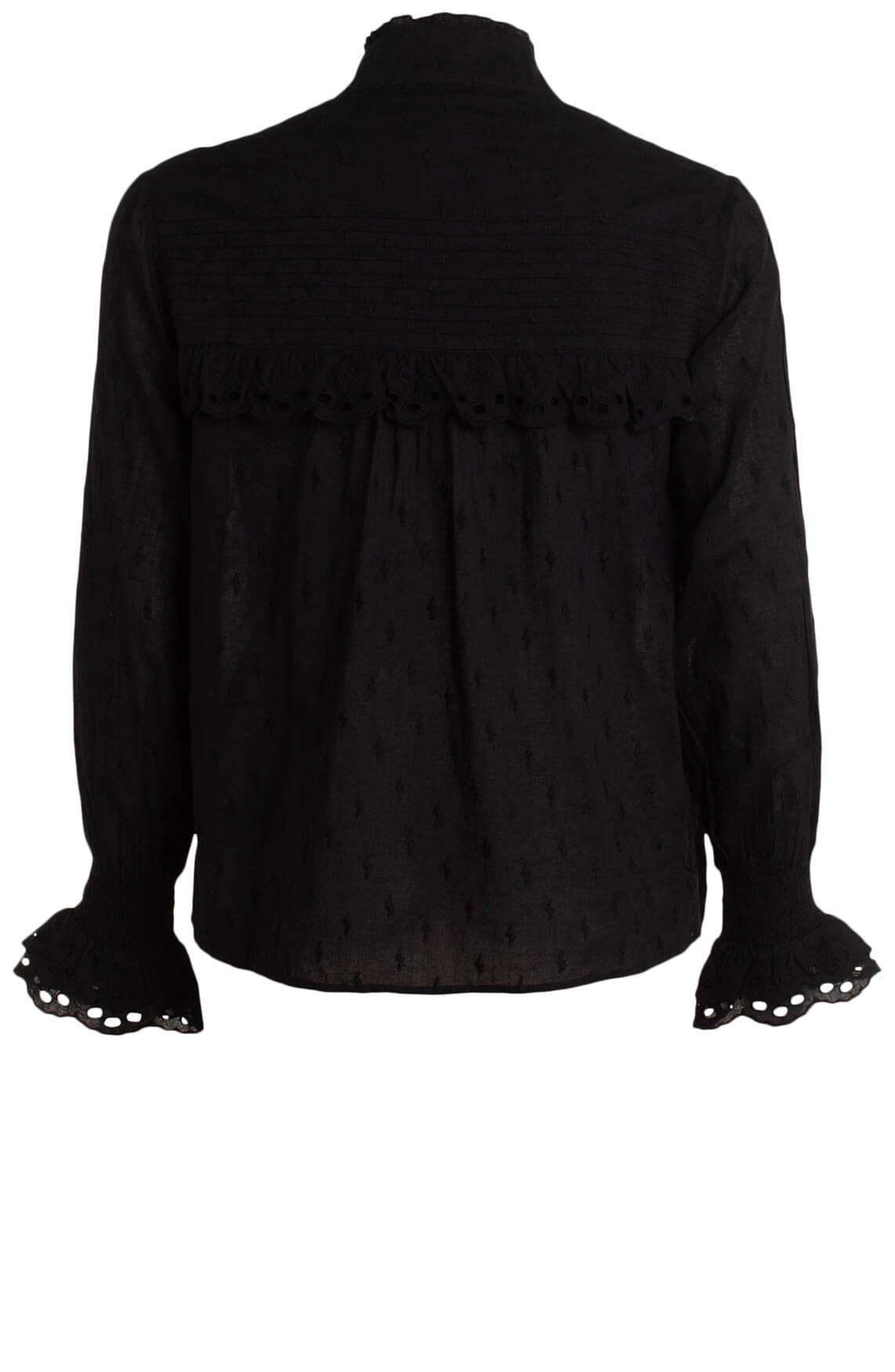 Alix The Label Dames Western broderie blouse zwart