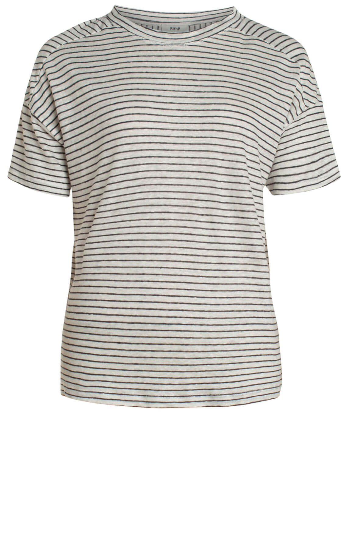 Anna Dames Linnen shirt met strepen wit