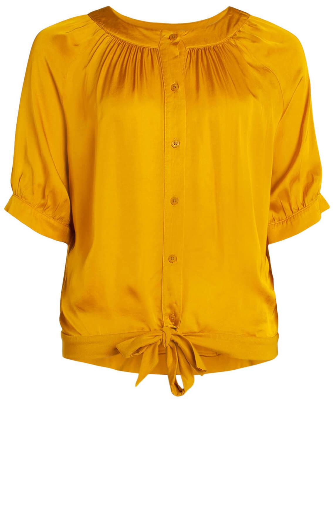 Anna Dames Satijnen blouse geel