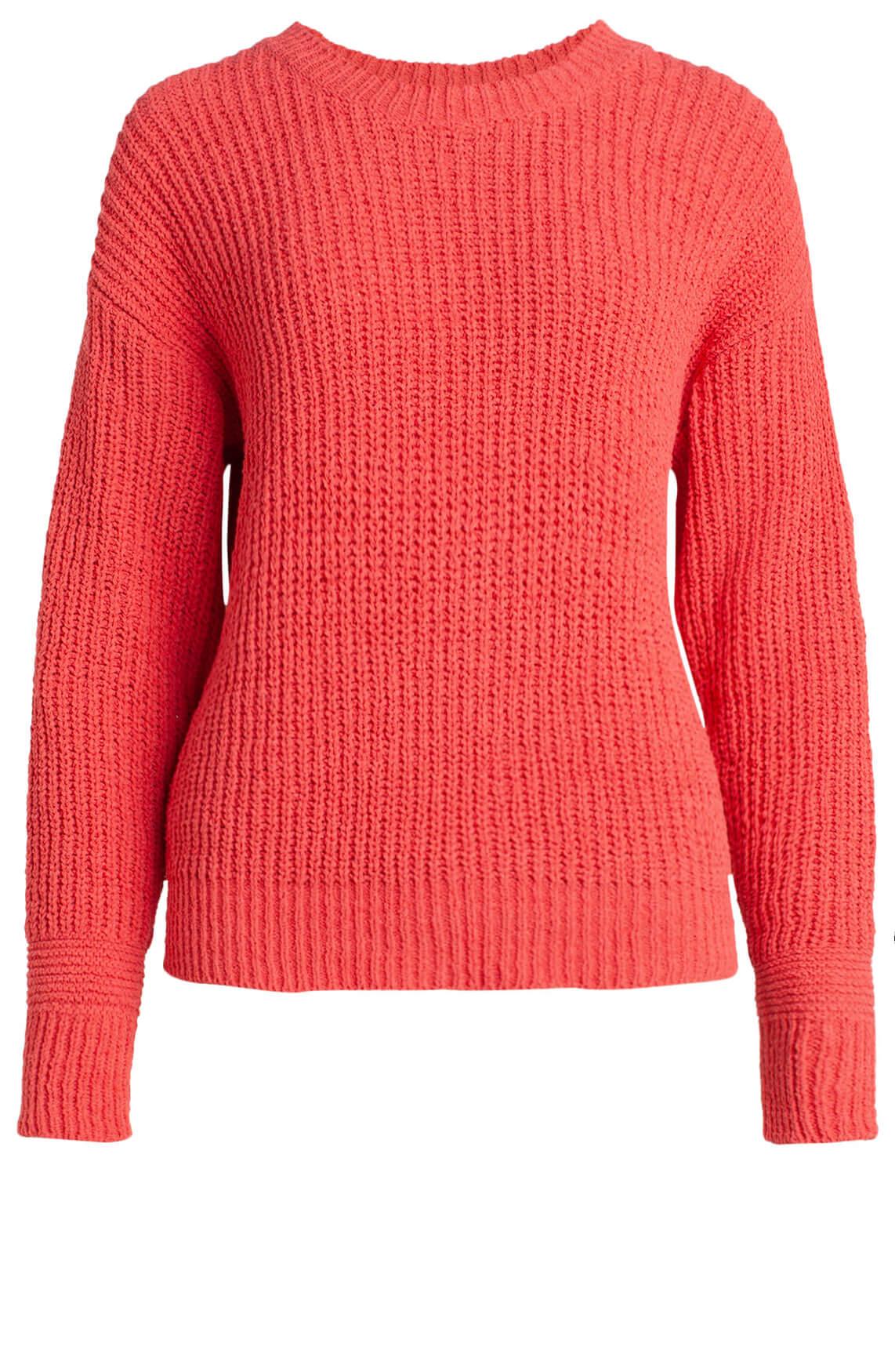 Anna Dames Ribgebreide pullover roze