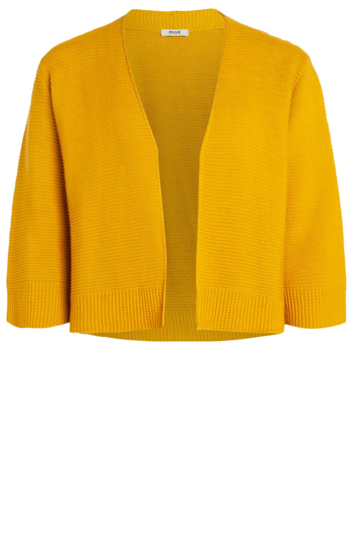 Anna Dames Gebreid vestje geel