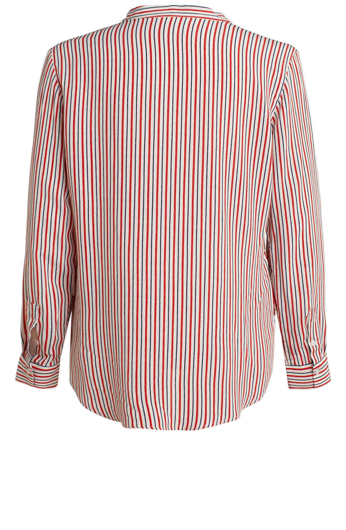 Anna Dames Gestreepte blouse wit