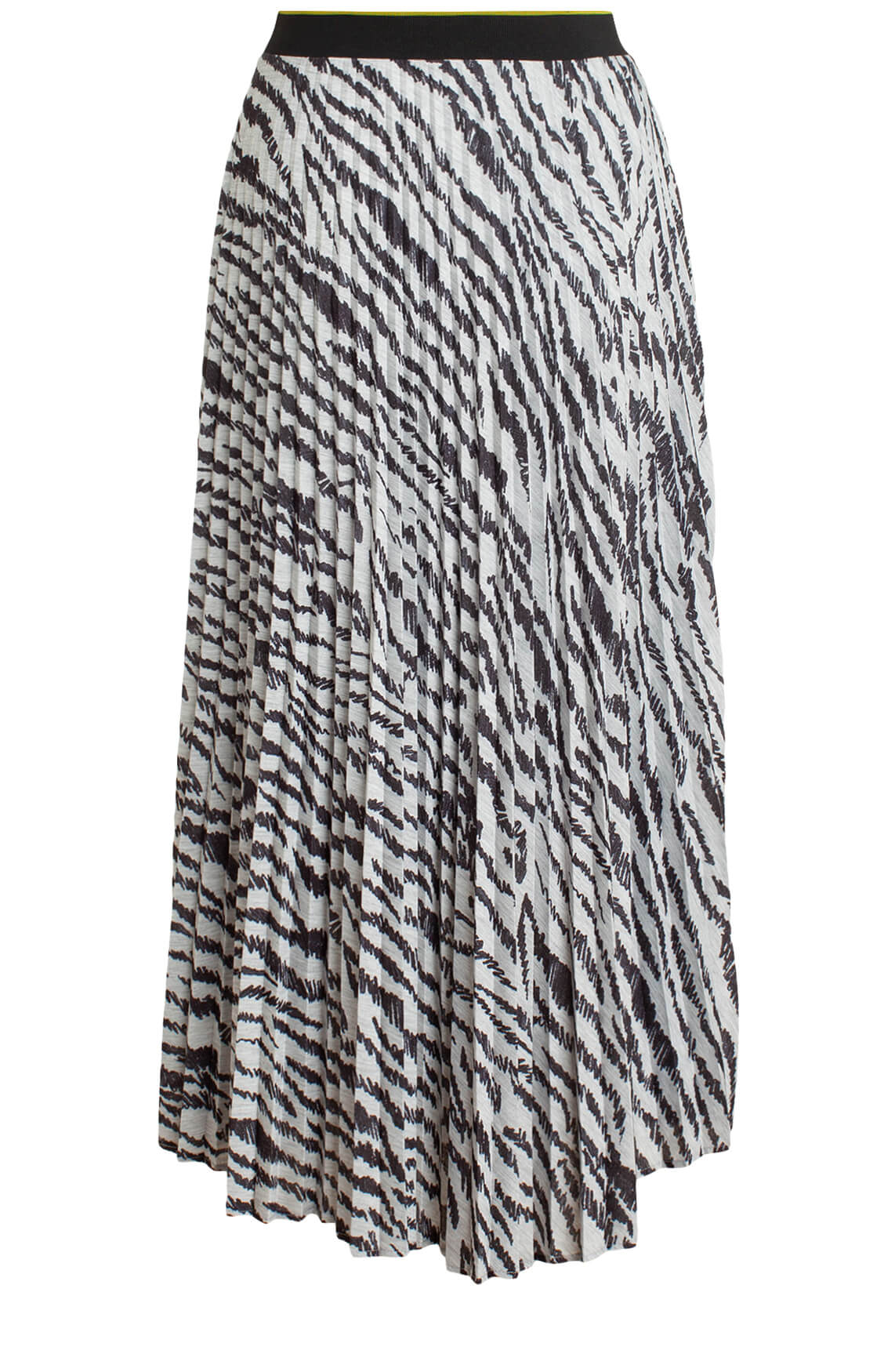 Anna Blue Dames Lange plissé rok met animalprint Grijs