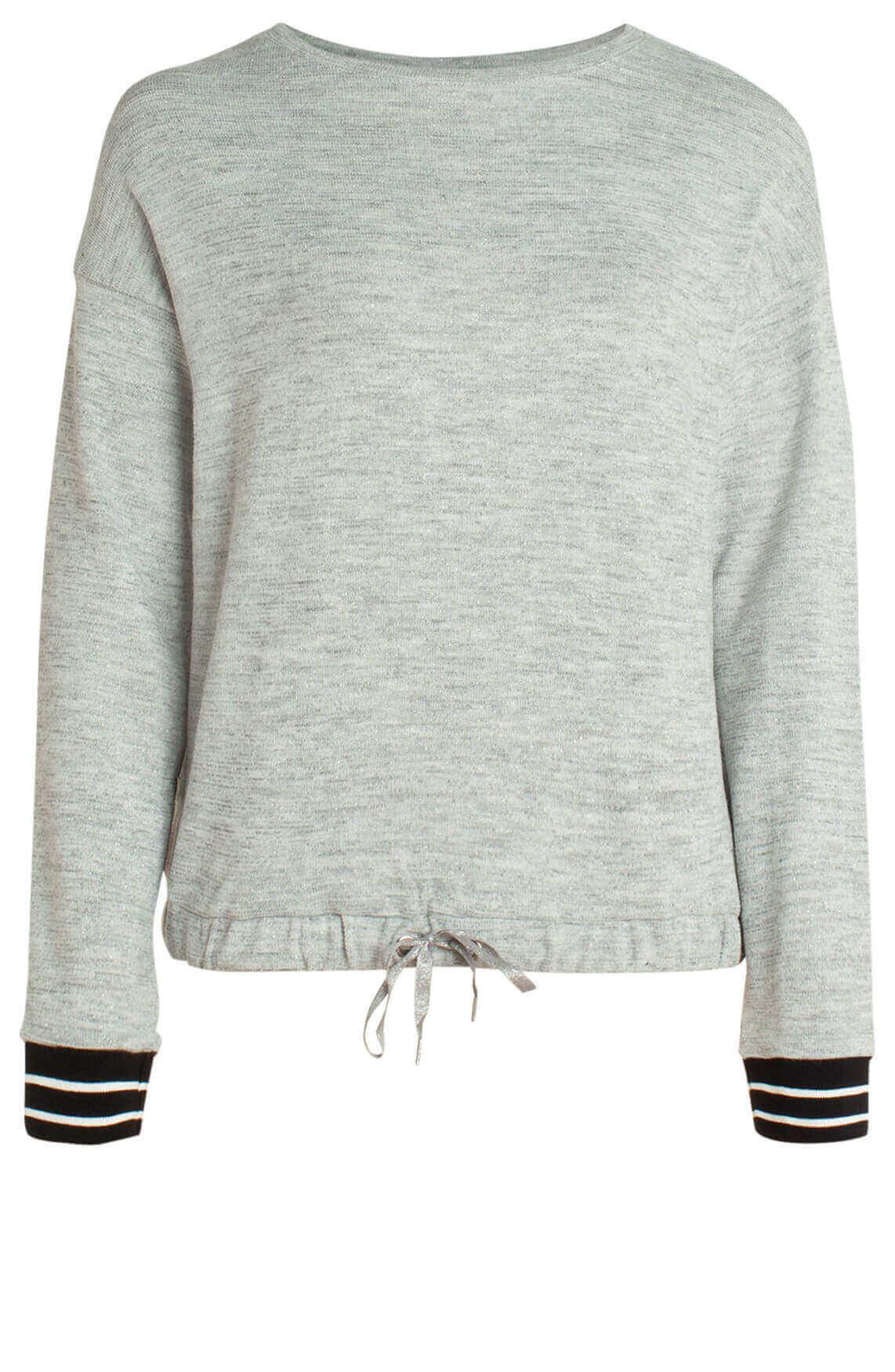 Anna Blue Dames Sweater met lurex Grijs