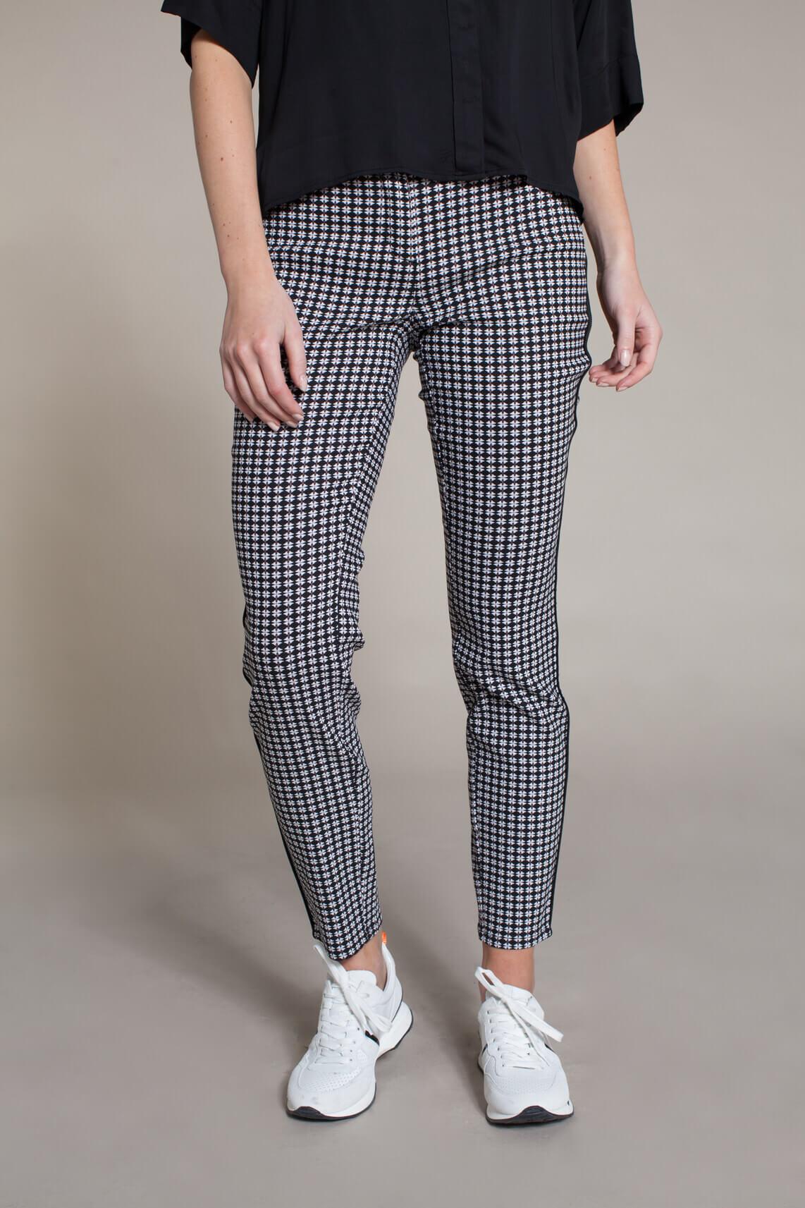 Rosner Dames Alisa broek met grafische print zwart