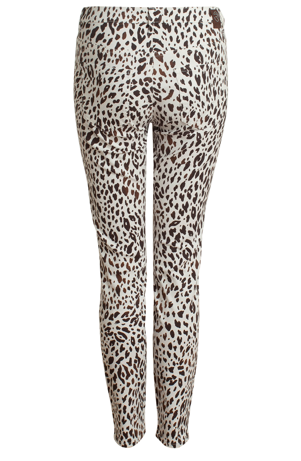 Rosner Dames Antonia broek met animalprint wit