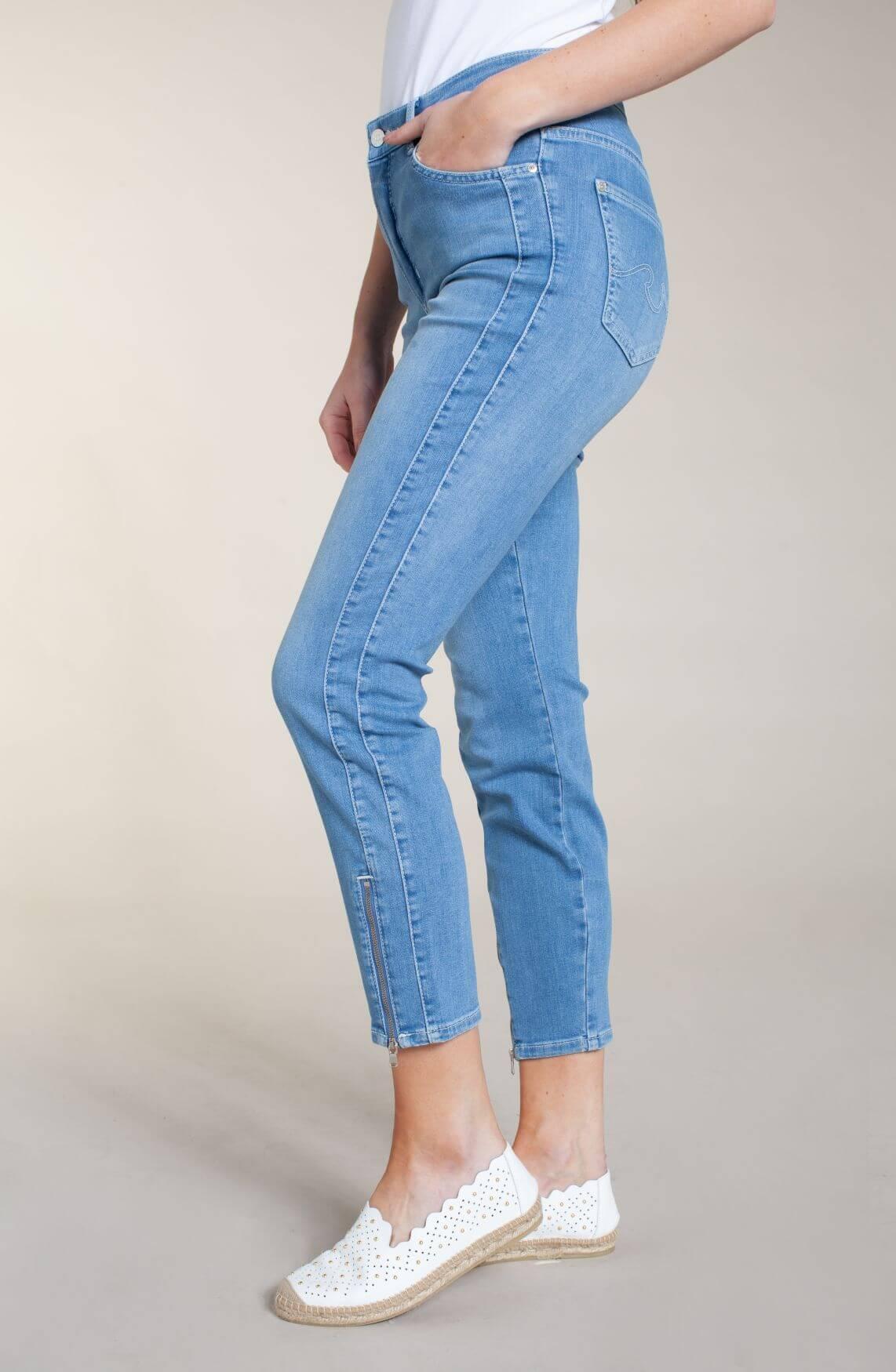 Rosner Dames Audrey jeans met rits Blauw