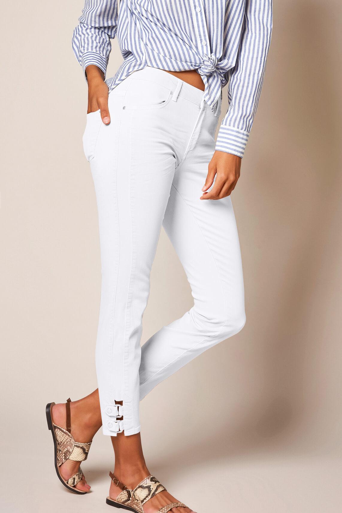 Rosner Dames L28 Antonia jeans met gesp wit