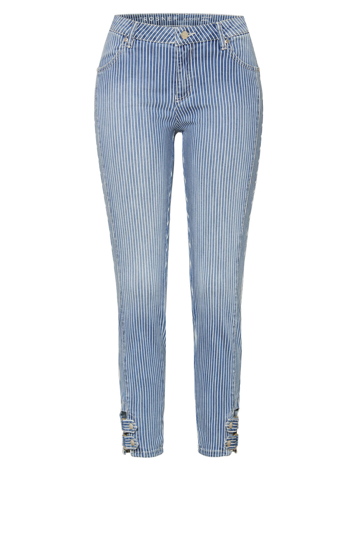 Rosner Dames L28 Antonia gestreepte jeans Blauw