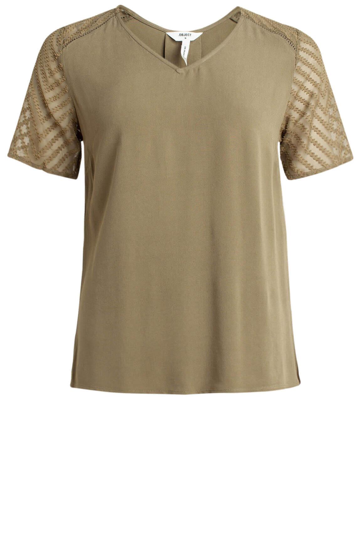 Object Dames Zoë shirt groen