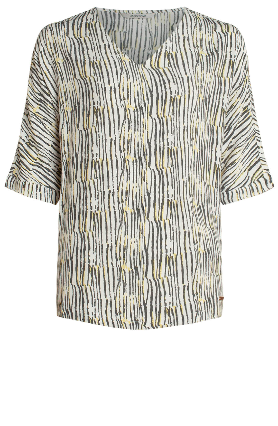 Moscow Dames Blouse met print wit
