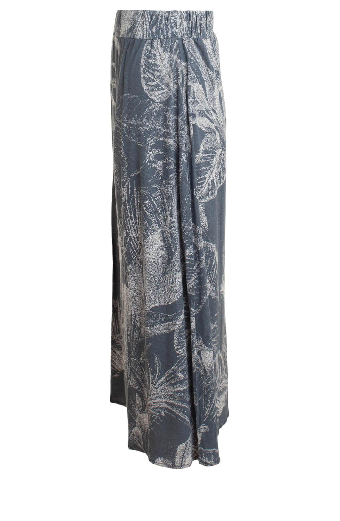 Moscow Dames Lange rok met bladprint Blauw