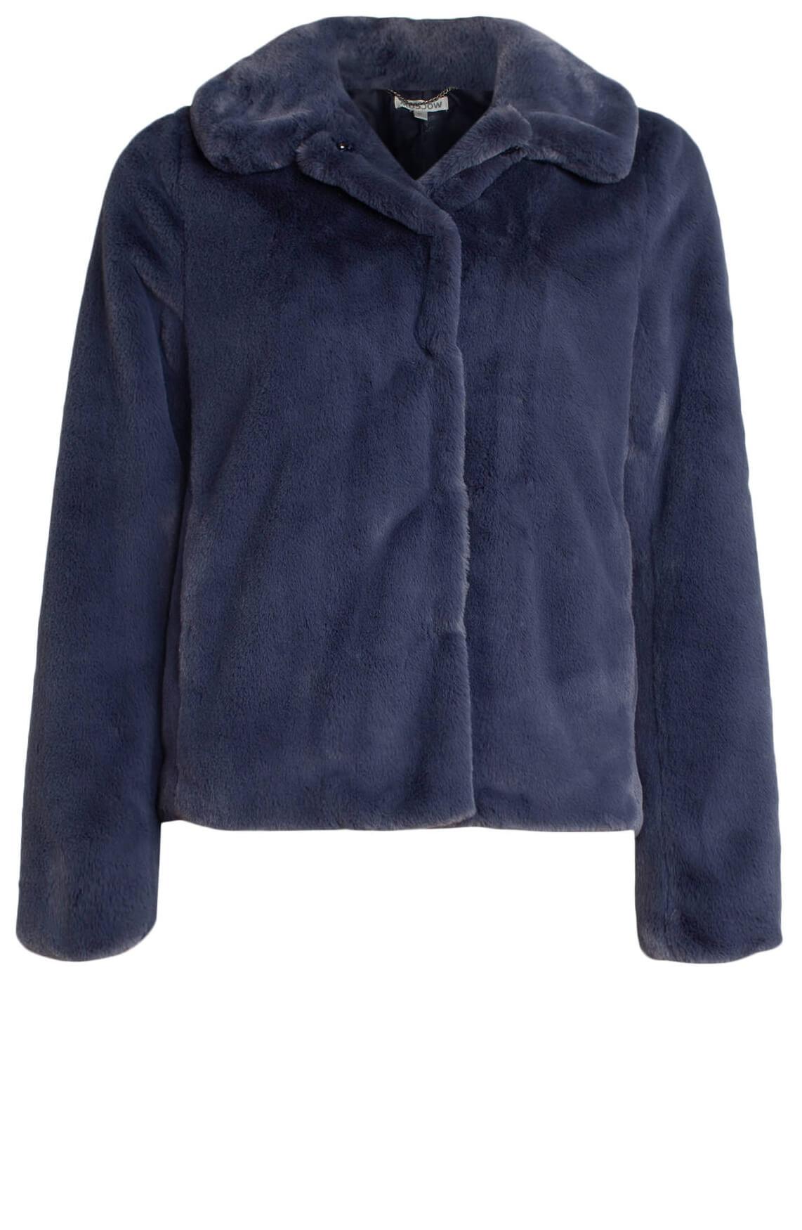 Moscow Dames Fake fur jasje Blauw