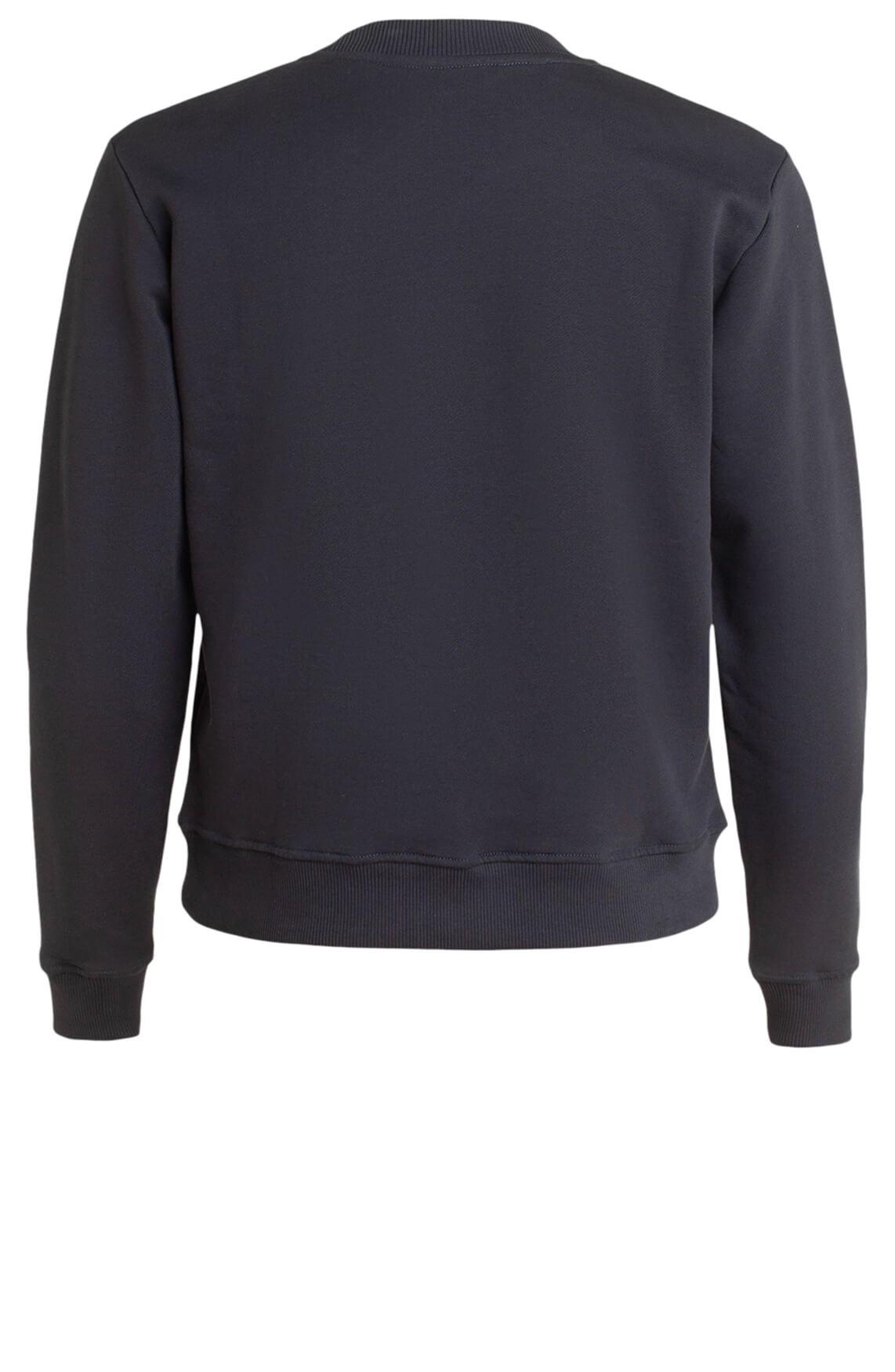 Moscow Dames Sweater met logo opdruk Blauw