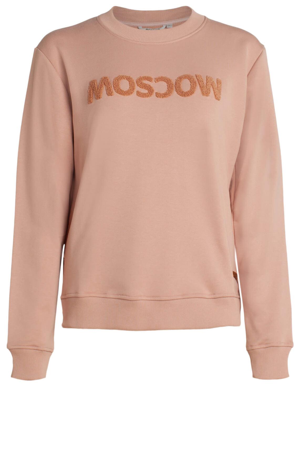 Moscow Dames Sweater met logo opdruk roze