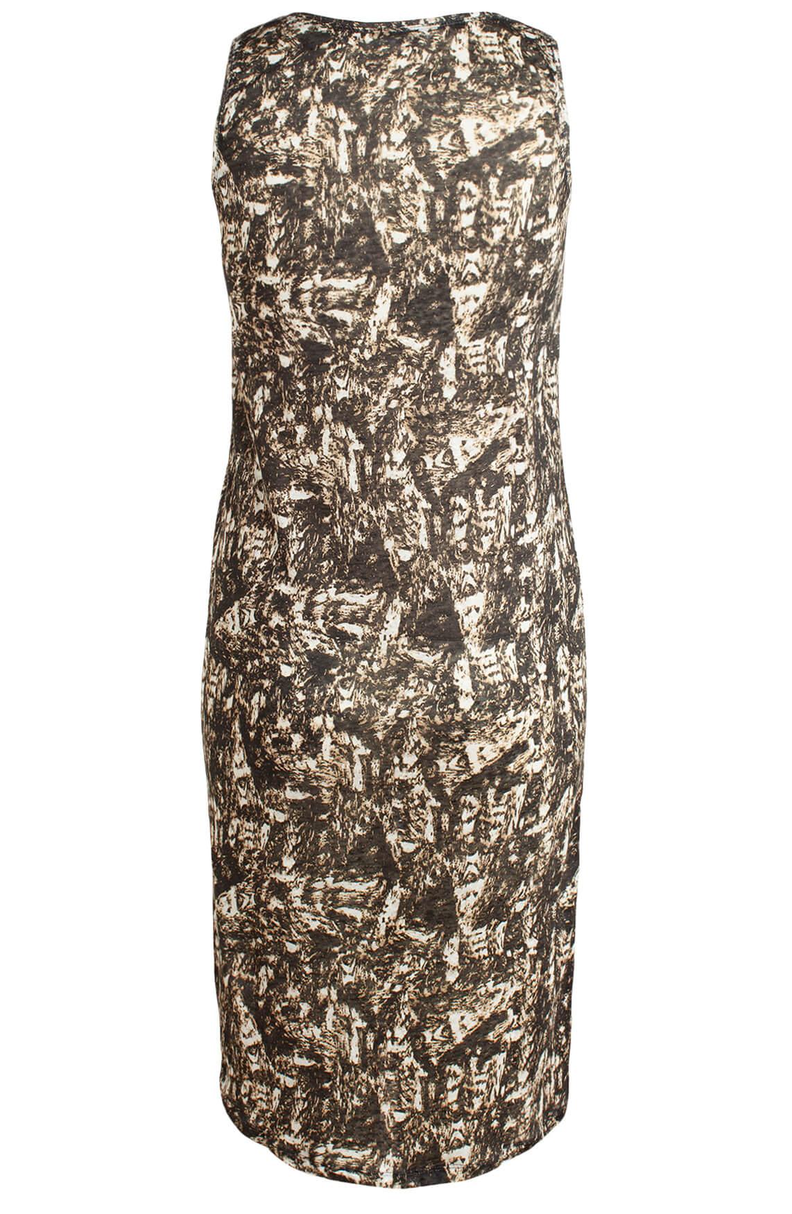 Moscow Dames Linnen jurk zwart