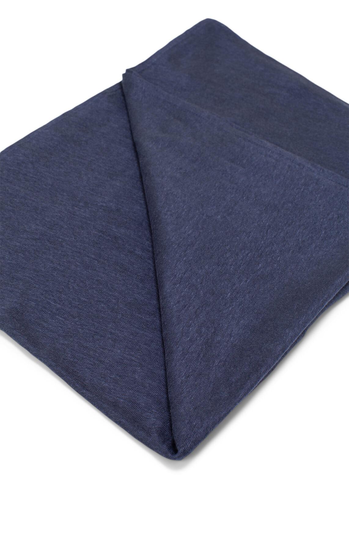 Moscow Dames Linnen shawl Blauw