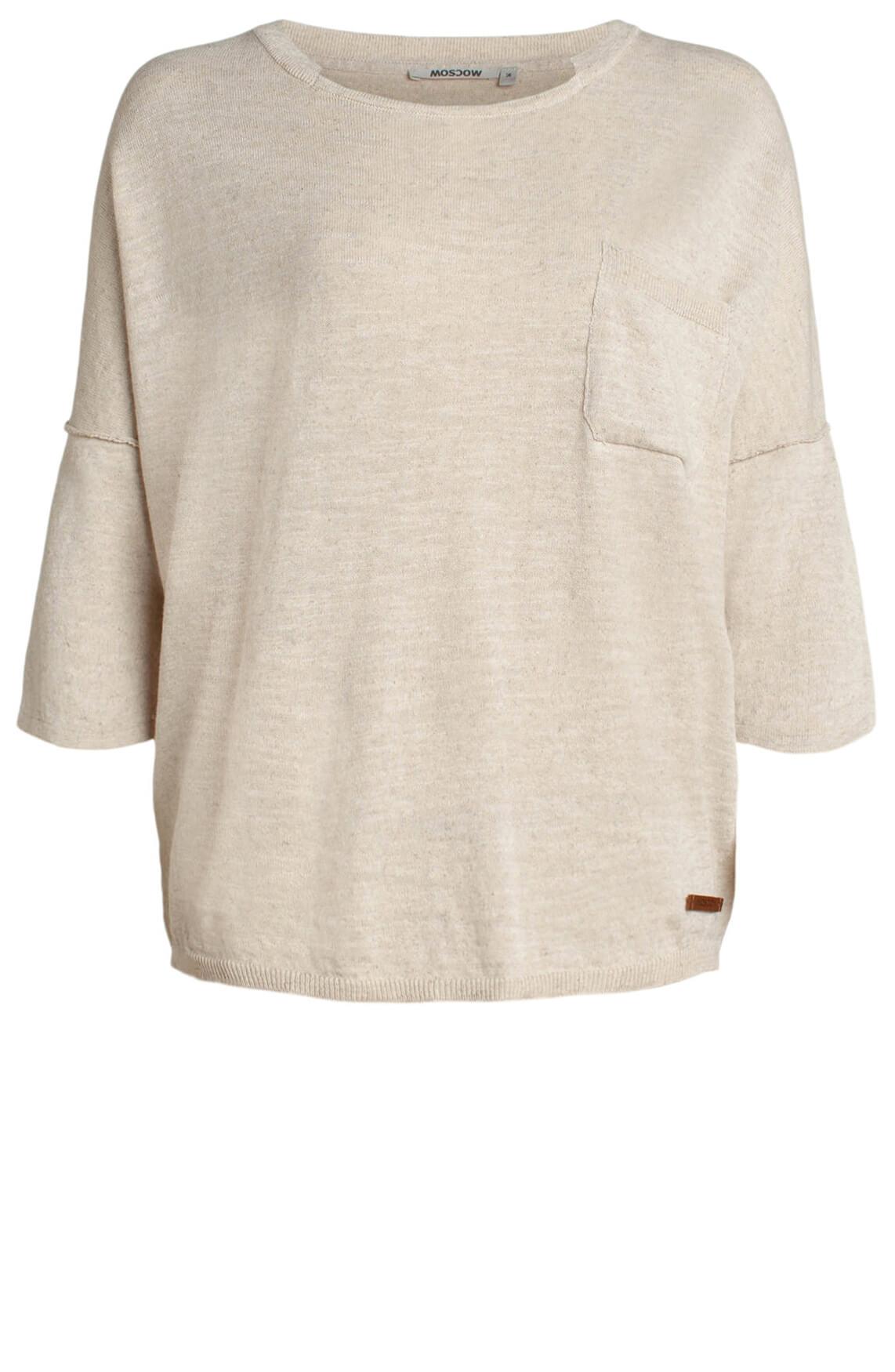 Moscow Dames Shirt met linnen Ecru
