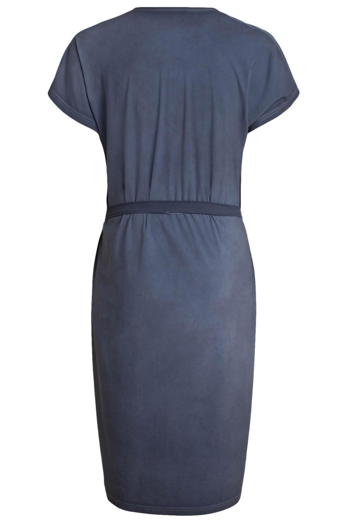 Moscow Dames Garment dye jurk Blauw