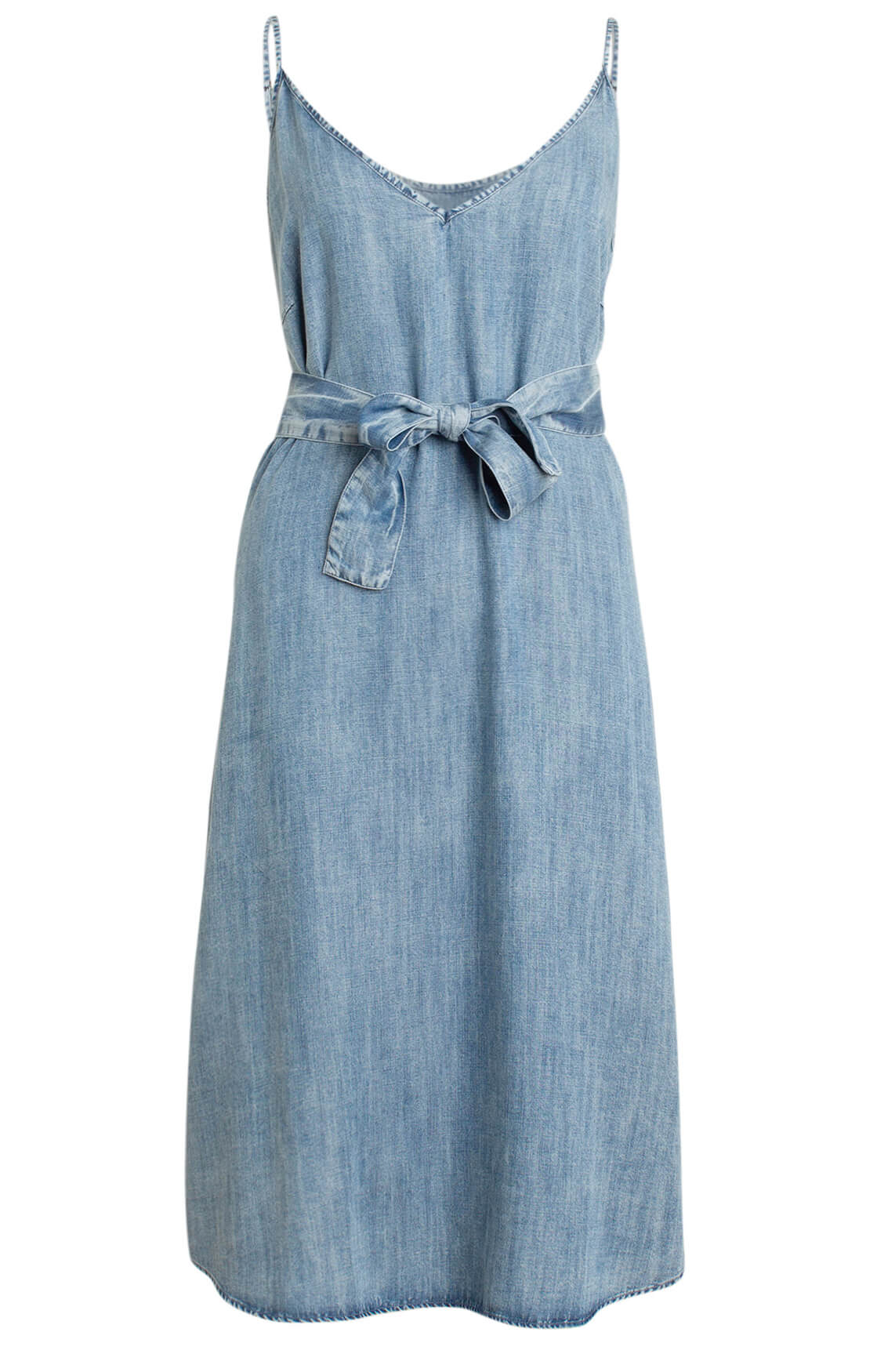 Moscow Dames Mouwloze jeans jurk Blauw
