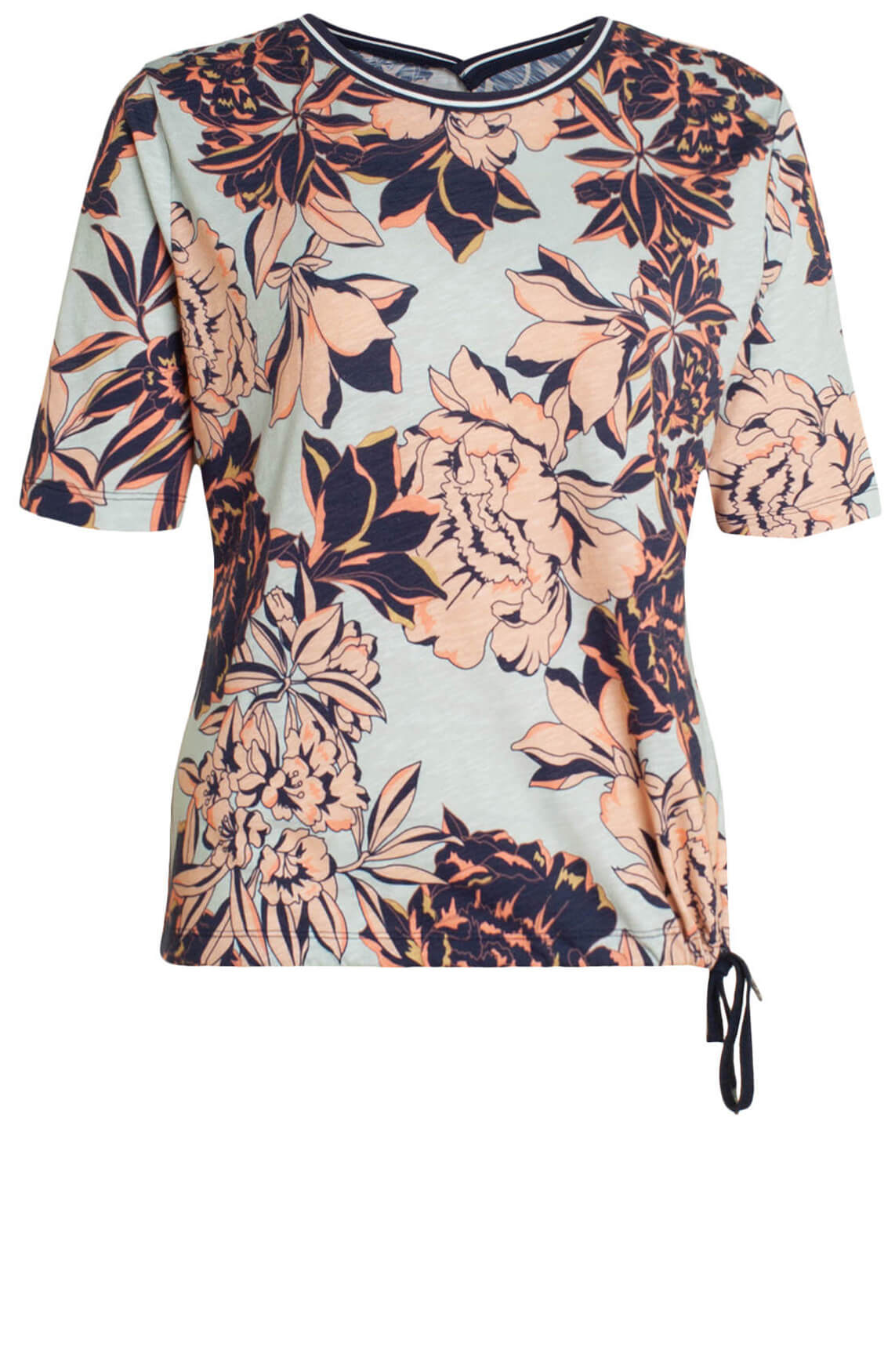Anna Blue Dames Shirt met floral print Blauw