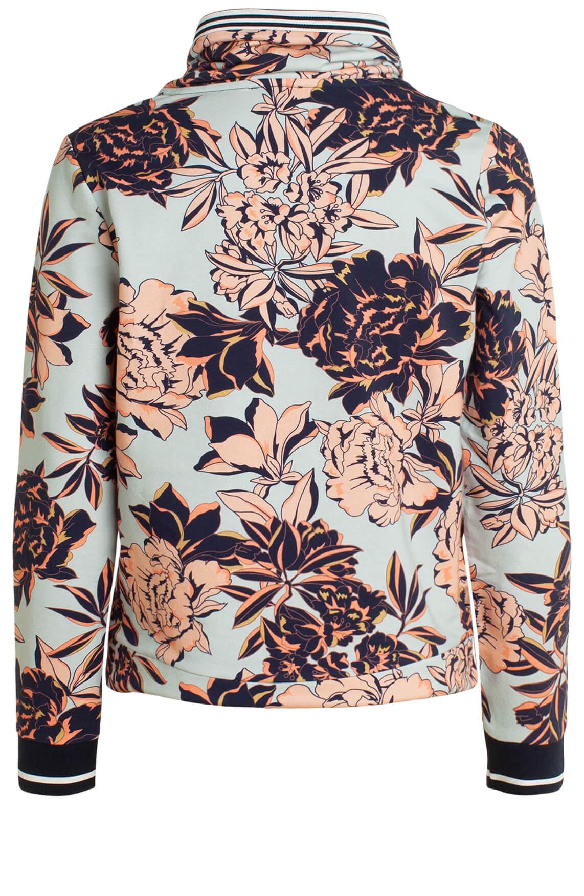 Anna Blue Dames Sweater met floral print Blauw