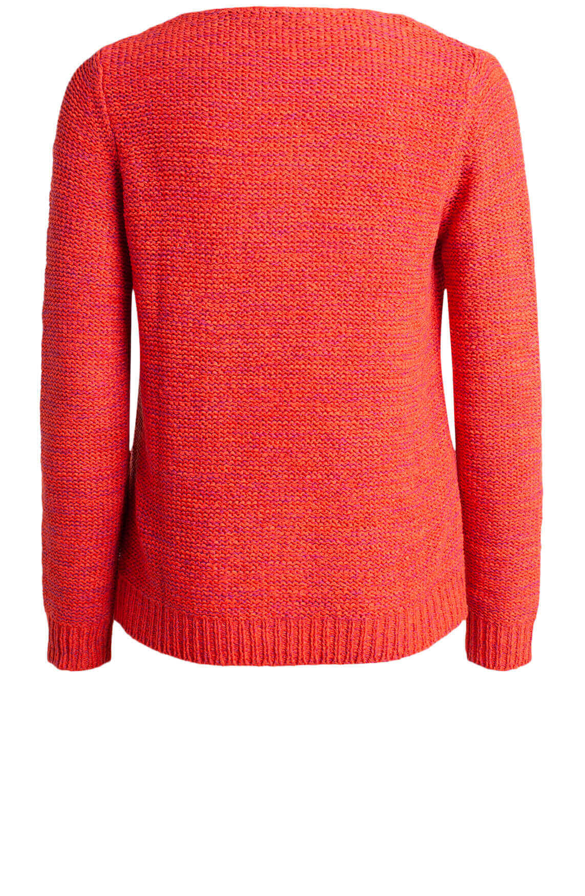 Anna Dames Pullover in bandgaren Rood