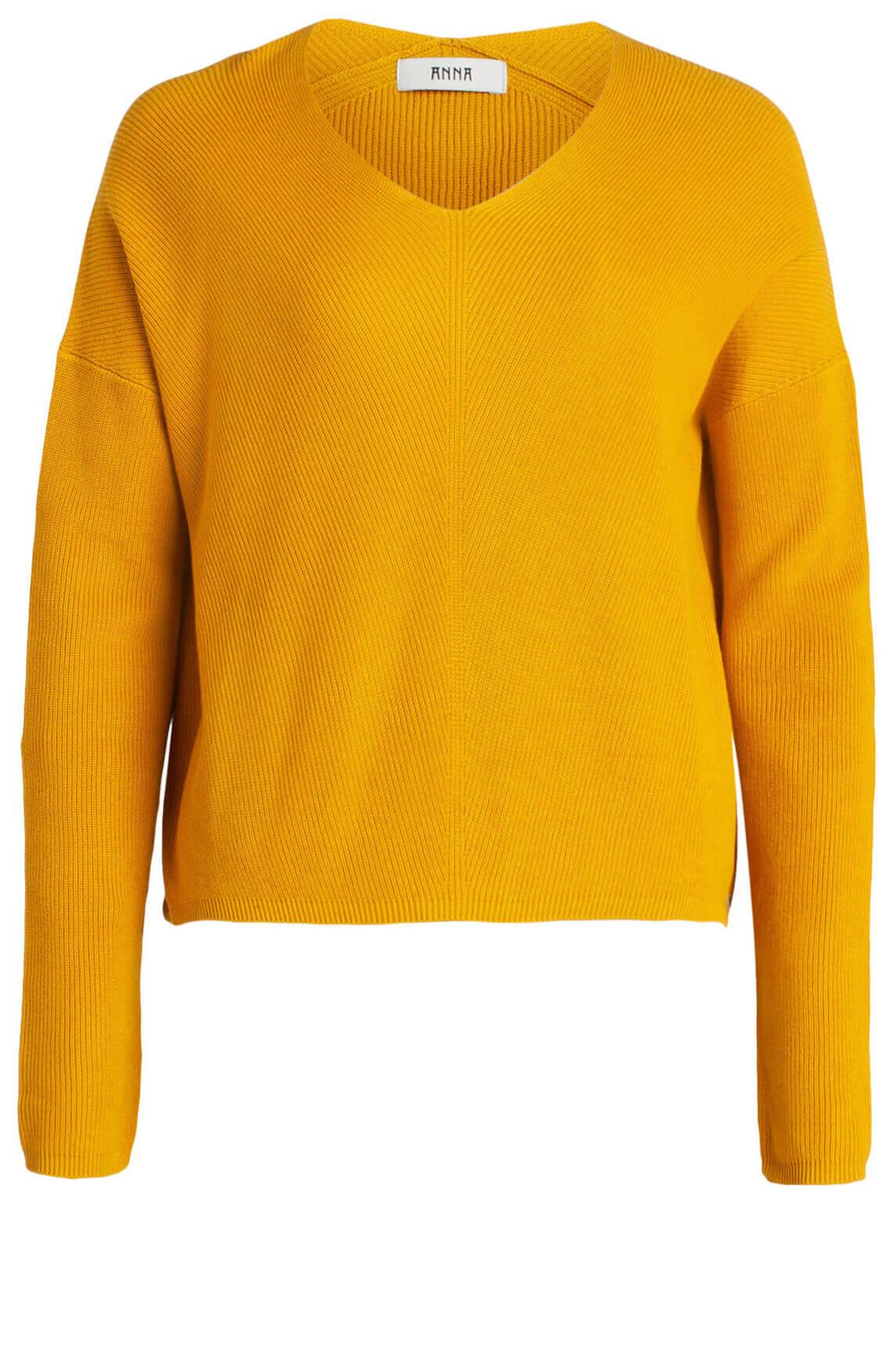 Anna Dames Pullover geel