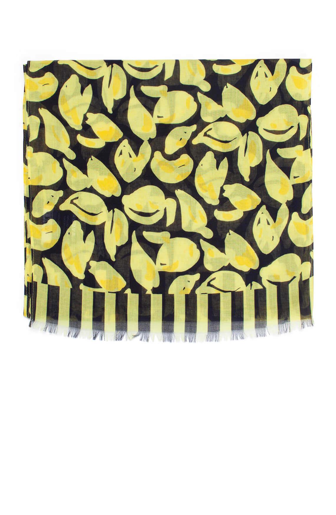 Anna Dames Shawl met citroenprint geel