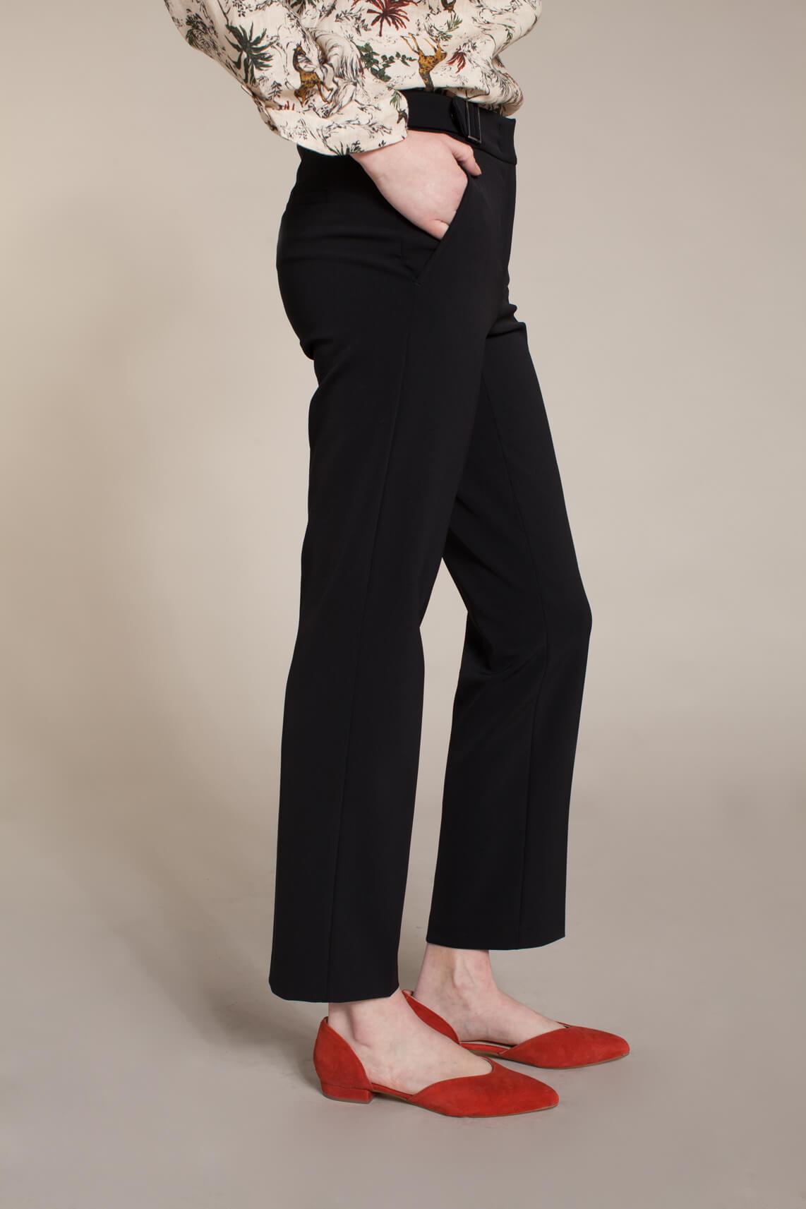 Cambio Dames Gin pantalon met gespen Zwart